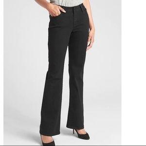 NWOT Gap Mid Rise Long & Lean Jeans 35S Black v425